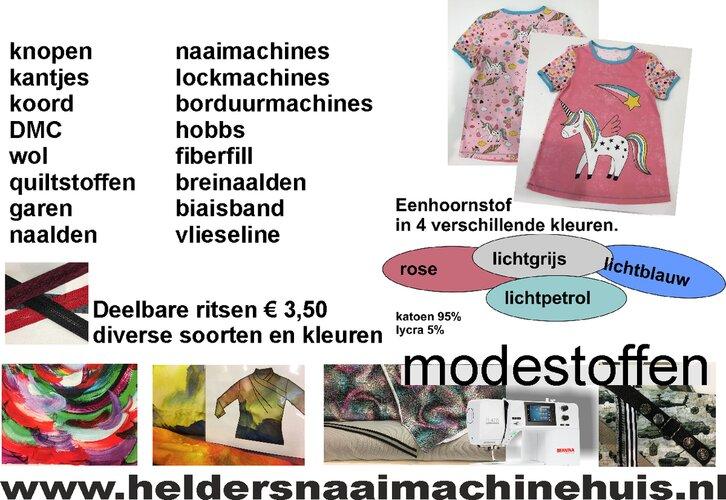 De nieuwste collectie modestoffen bij het Helders Naaimachinehuis