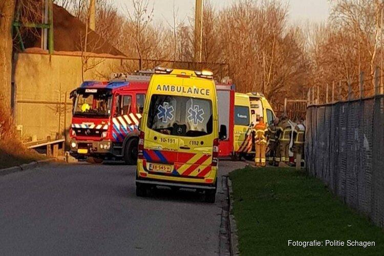 Man die klem kwam te zitten na ongeluk in Schagen overleden aan verwondingen