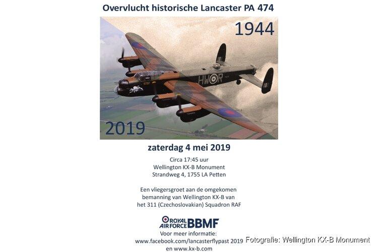 Overvlucht historische Lancaster PA 474