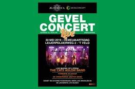 Bouwbedrijf decor nieuw muziekevenement 'GevelConcert Live'