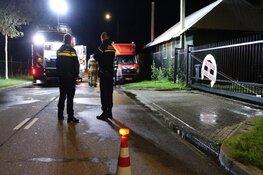 Veel rookontwikkeling bij brand in loods in Schagen
