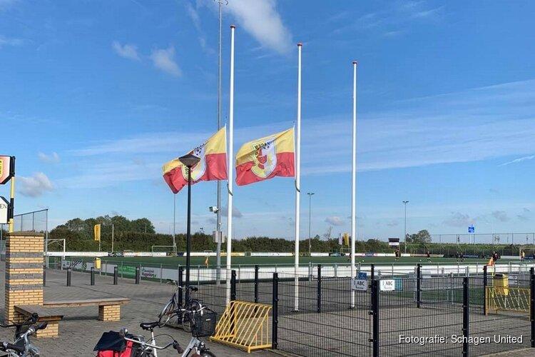 Vlaggen halfstok bij Schagen United