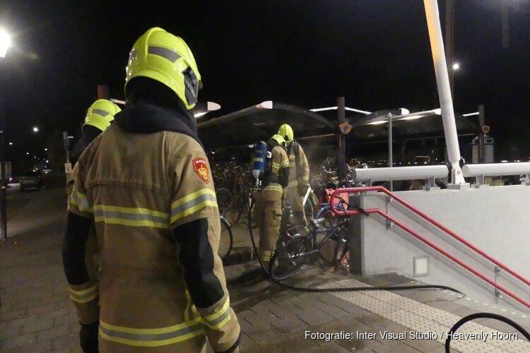 Afvalbak in brand in Schagen