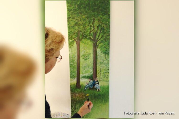 Schilderijen in bieb Tuitjenhorn
