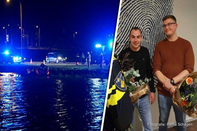Politie prijst mannen voor heldhaftige reddingsactie na ongeluk in Schagen
