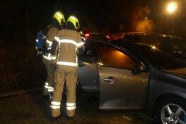 Auto in brand in Schagen