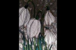 Schilderijen van stof in bieb Tuitjenhorn
