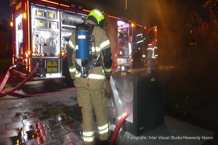 Containerbrandje in Spreeuwenlaan