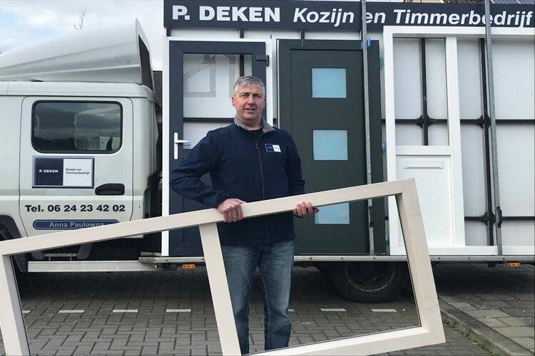 Patrick Deken is in april 2016 gestart met het bedrijf  P. Deken Kozijn en Timmerbedrijf