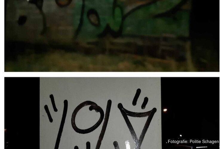 Twee jonge graffitispuiters bij schuur in Oudesluis betrapt, gevlucht maar tóch gearresteerd