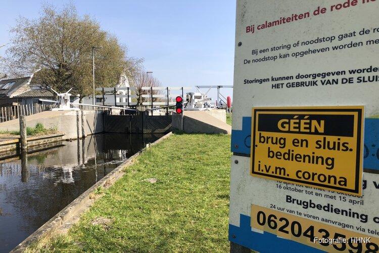 Hoogheemraadschap houdt sluizen en bruggen gesloten