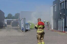 Containerbrandje witte paal Schagen