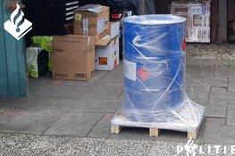 250 liter aceton aangetroffen