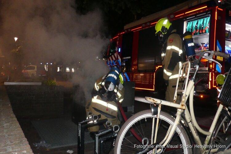 Container brandje met aanhouding in Schagen