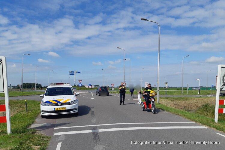 Ongeval met auto en scootmobiel
