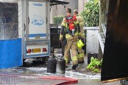 Brand in viskraam op markt in Schagen