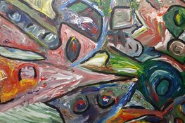 Inktpotjes en schilderijen in bieb Tuitjenhorn