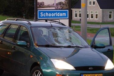 Fietser aangereden door auto in Warmenhuizen