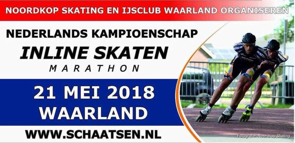 NK inline skaten in Waarland