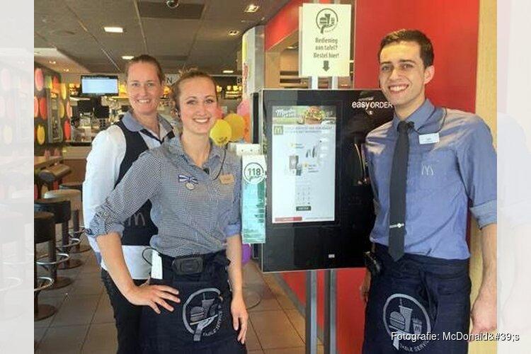 McDonald's restaurant Schagen start met persoonlijke bediening aan tafel
