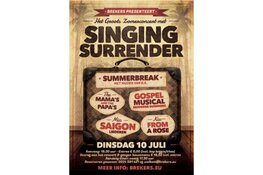 Concert met Singing Surrender bij Brekers
