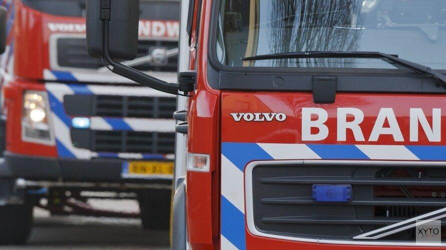 Natuurbrand in duingebied in Schoorl