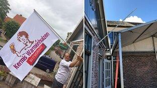 """Speciaal ontworpen vlag voor kermis Warmenhuizen gejat: """"Beetje kinderachtig"""""""