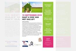 Informatiedag energiebesparing voor woningeigenaar ''Gaat u ook van het gas af''