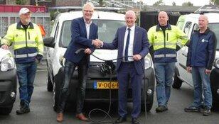 Levering elektrische bedrijfsauto's voor gemeente Schagen