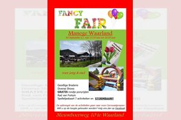 Fancy Fair bij Manege Waarland