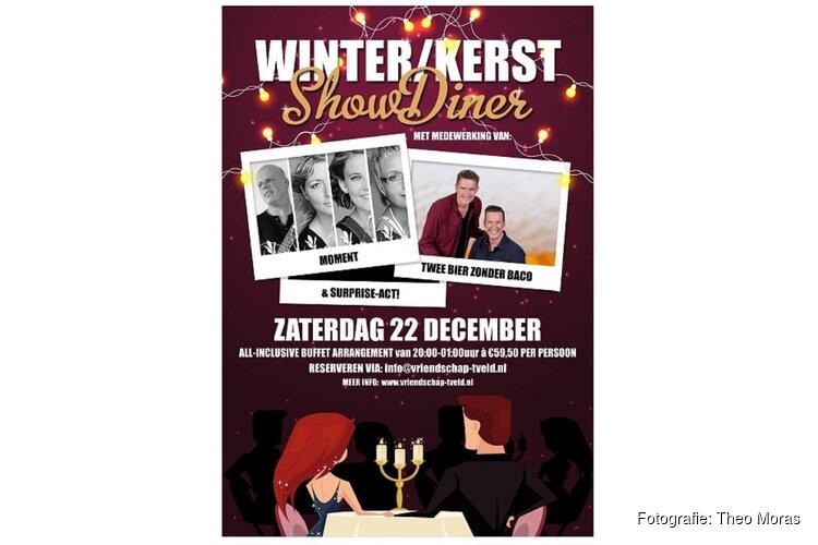 Winter/kerst showdiner in Partycentrum De Vriendschap 't Veld