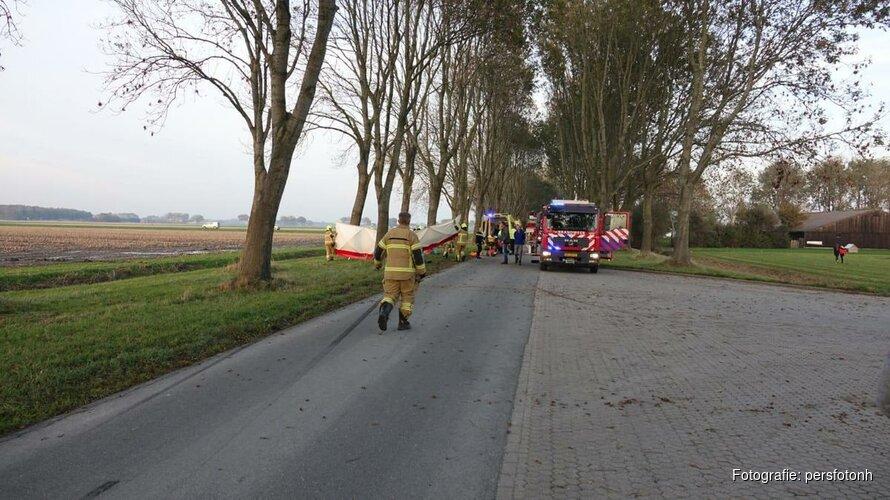 Bestuurder ongeval Nieuwe Niedorp in ziekenhuis overleden